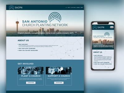 SACPN Website webdesign church planting mobile site mobile design website web branding design church