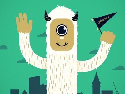 WordCamp Poster wordcamp boston wordpress johnboilard jpboneyard monster city teal gold navy illustration poster