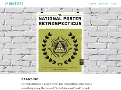 JPBoneyard.com Responsive Redesign (Project Page) jpboneyard responsive web design