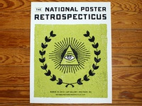 National Poster Retrospecticus Poster (two color print)