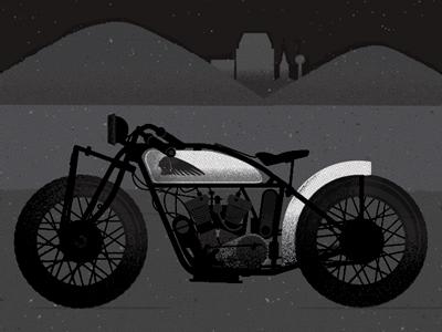 Motorbike Illustration in progress motorbike springfield massachusetts indian motorcylces everywhere project jp boneyard jpb john boilard illustration