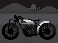 Motorbike Illustration in progress