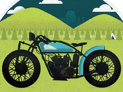 The Everywhere Project: Springfield Mass springfield massachusetts illustration everywhere project motorcycle jp boneyard indian motorcycles