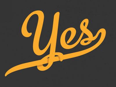 """Yes we're touring!"" detail (NPR Tour 2013) customized yes orange script typography custom nationalposterretrospecticus jp boneyard john boilard"