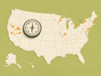 National Poster Retrospecticus Tour Map