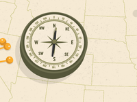 National Poster Retrospecticus Tour Map (Detail)