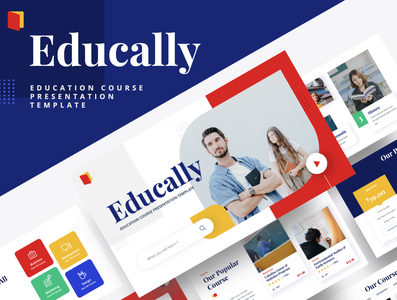 EDUCALLY – Education Course Powerpoint Template science pencil studying class graduation classroom diploma technology learn web student learning library college study university knowledge book school education