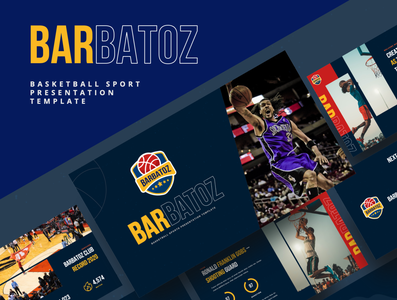 BARBATOZ – Basketball Sport Powerpoint Template slam dunk shot score ring basket professional player net match indoors hoop gym game floor court competition basketball basket powerpoint basket ball arena