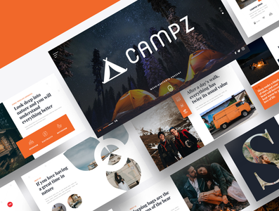 CAMPZ – Camping & Caravan Powerpoint Template recreation outdoors outdoor nature mountain lifestyle leisure landscape journey holiday hiking forest caravan camping campfire camper camp bonfire backpack adventure