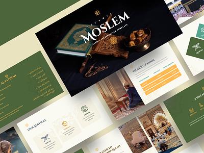 MOSLEM – Islamic Powerpoint Template branding presentation islamic calligraphy user interface powerpoint template islamic