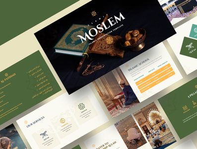 MOSLEM – Islamic Powerpoint Template branding presentation islamic calligraphy user interface powerpoint template islamic