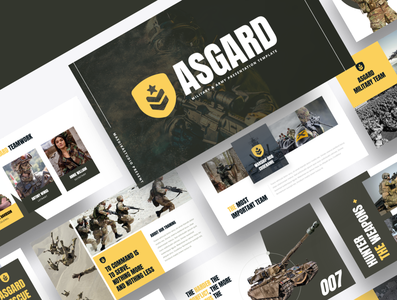 ASGARD – Military & Army Powerpoint Template power green weapon gun battle warfare warrior patriotic combat armed patriot veteran force us uniform people soldier war military army
