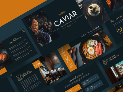CAVIAR – Catering & Food Powerpoint Template appetite meat tasty hotel gourmet plate cater wedding delicious luxury dish banquet service dining meal restaurant event catering food party