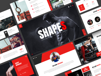 SHAPES - Gym & Bodybuilding Powerpoint Template