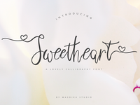 Sweetheart Lovely Calligraphy Font