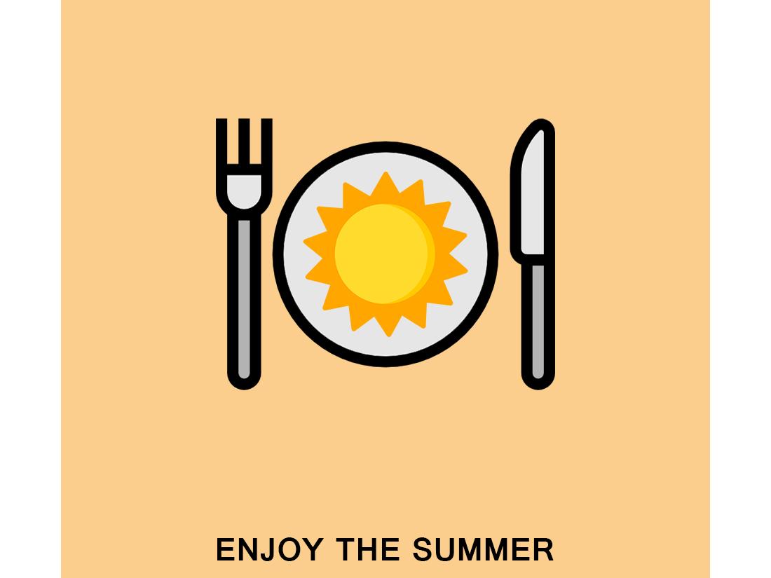 Enjoy the summer design concept vector artwork vector illustrator illustration icon flat creative