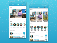 Messenger App: Home Screen for iOS and Android