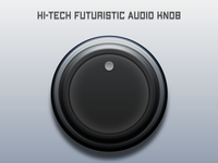 Hi-Tech Futuristic Audio Knob