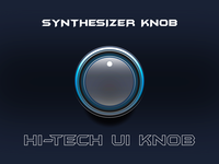 666 - Hi Tech Synthesizer Knob Example #1