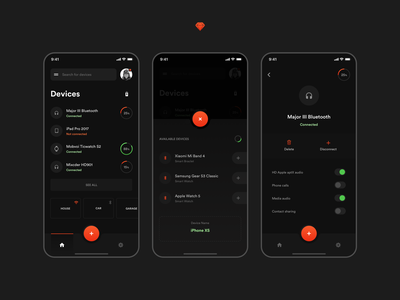 Mobile APP for Wireless Devices uiux giomak georgia dribbble device interface design app user interface ios sketch dark ui colors webdesign typohraphy contrast uidesign mobile design mobile app ux ui