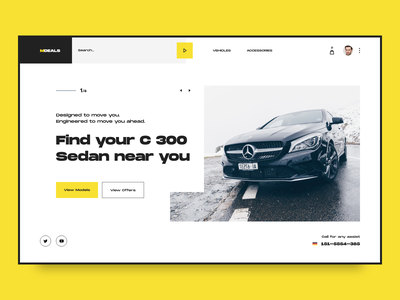 Car Dealers Website amg black and white auto shop store yellow webdesign uxdesign uxui ui design cars dealer mercedes web ux ui