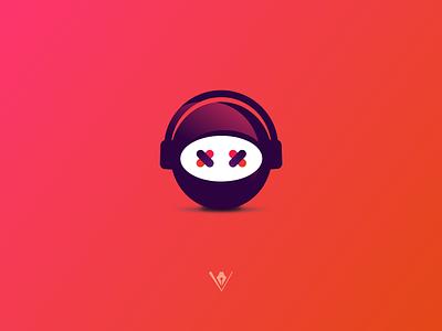 Personal Avatar badge logo georgia ux ui headphones music ninja illustration vector colors avatar