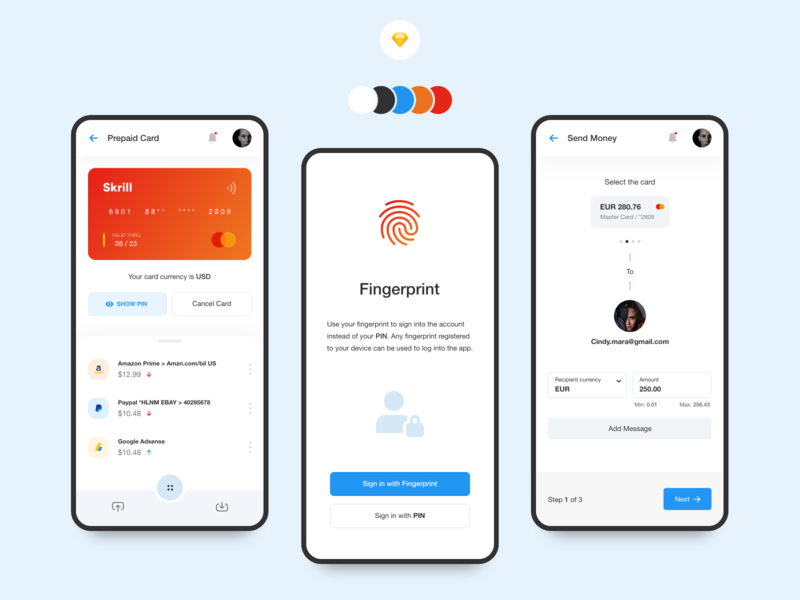 Digital Wallet - Mobile App georgia web design wallet uxdesign ux uidesign ui sketchup mobile app giomak digital banking ios bank app android