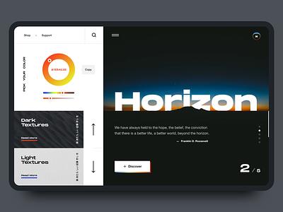 Horizon - Modern website design concept adobexd colors texture webdesign ux ui