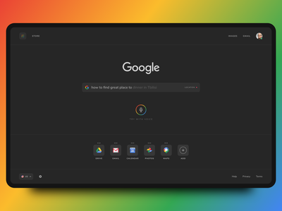 Google Search - Redesign Concept adobexd website uxdesign colors webdesign ux ui