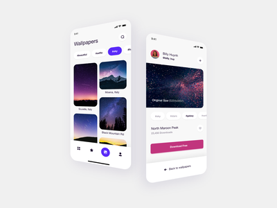 Wallpapers - Mobile Application mobile ui ux design uxdesign ux  ui ux ui design uidesign uiux ui user interface design user experience user interface userinterface ios design ios app design wallpapers georgia giomak daily ui dailyui