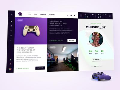 eSports Gaming Design gaming ux gaming experience esport ui interface design gaming design esports