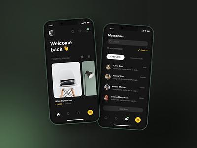 eCommerce Mobile App mobile design ecommerce app dark ui mobile app