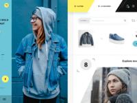 Magazine style online store