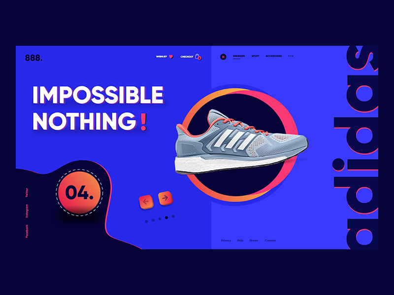 Online Store - Landing Page! sneakers ux ui shoes sport store website