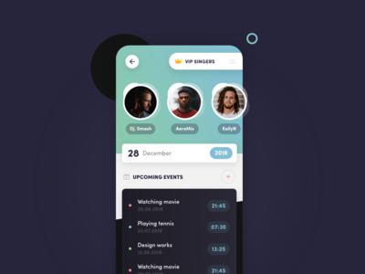 Event App giomak app mobile ux ui