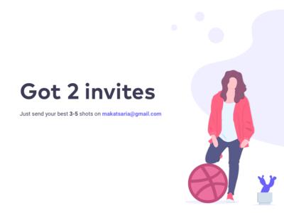 2 Dribbble Invites giomak ux ui invite