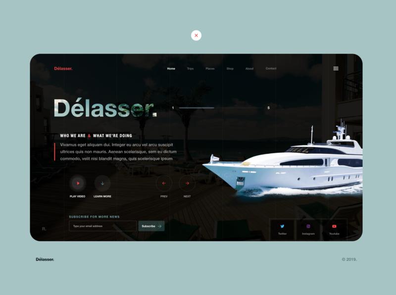 Website for the travel lovers ) webdesign ux ui website