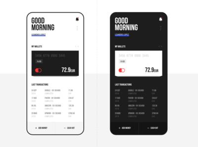 Digital Wallet - Mobile App mobile app ux ui