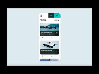 Drone market - Mobile App