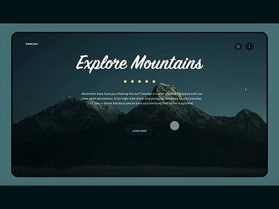 Mountain Tours - For FHD Desktops! dribbble travel ui design giomak web deisgn website ux ui