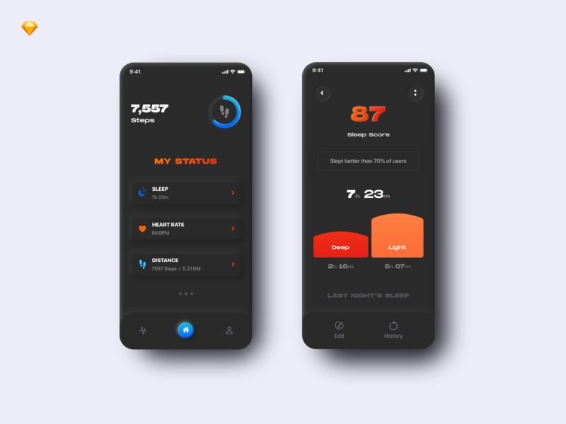 Mobile App For Fitness Tracker fitness app mobile uidesign uxdesign ux ui