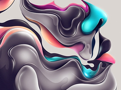 Within photoshop rik oostenbroek face colors print gradients lines pentool lights shading