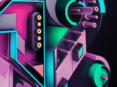 2012 2012 3d typography neon psycho rik oostenbroek nkeo secretshowcase gradients toxic new year