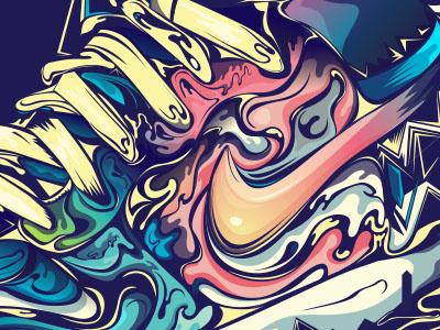 Illustrator work-out shoes nike tee rik oostenbroek fun illustrator vector colors wip