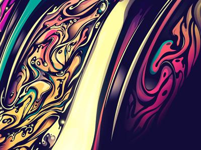 Rolling Stones 50 rolling stones tongue mouth pink yellow blue dark rik oostenbroek vector illustrator depth