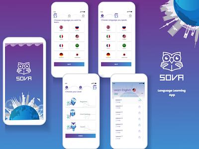 SOVA App app learning languages