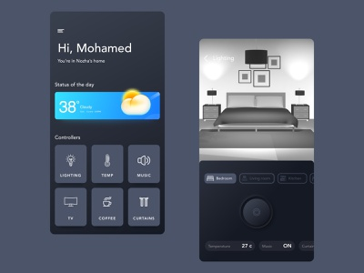 Real Feel Home Controller download 3d animation lighting weather drawing app graphic design design uiux mobile photoshop illustration ui  ux design interface sketch uidesign