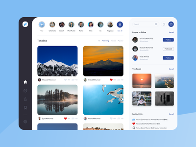 Ments Gallery follower stories photography gallery ui uiux ui  ux design interface sketch uidesign