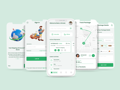 Delivery App 🛵 home tracking map clean illustration vector 3d vector 3d delivery green figma design sketch uiux ui  ux design interface uidesign