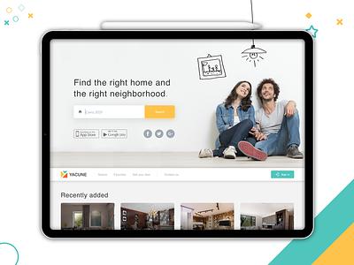 Yacune flat website icon ux web typography uxdesign ecommerce ipad uidesign illistration photoshop sketch graphic design